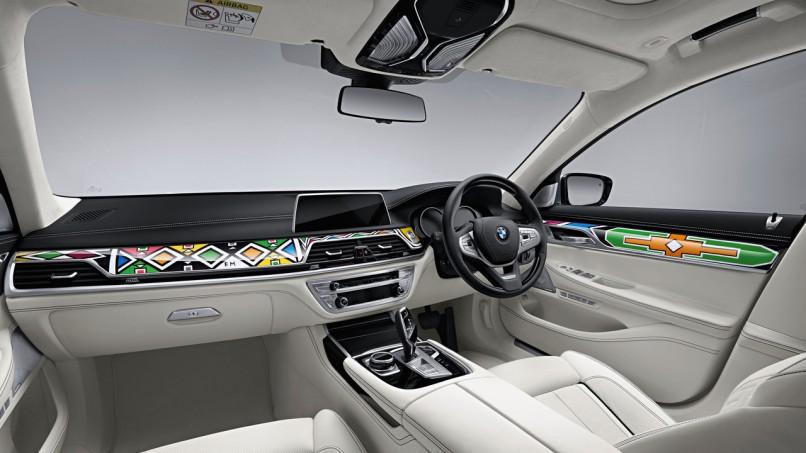 The BMW 740Li interior designed by Esther Mahlangu  Supplied