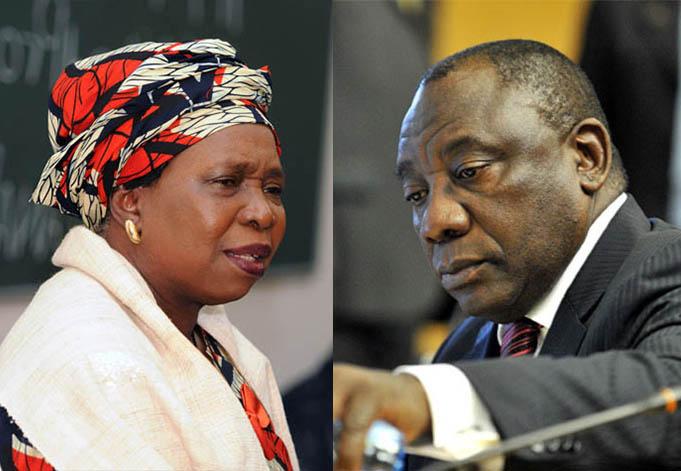 Presidential hopefuls Nkosazana Dlamini-Zuma and Cyril Ramaphosa.