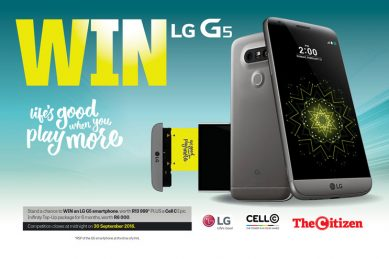 Win an LG G5 smartphone and Cell C Epic Infinity Top-Up package with The Citizen