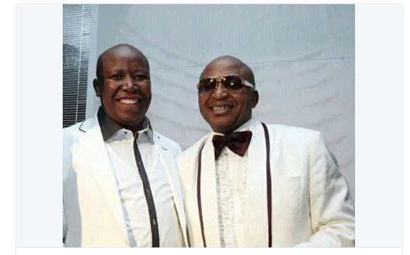 Julius Malema with Kenny Kunene back while they were still big party buddies (in more ways than one).