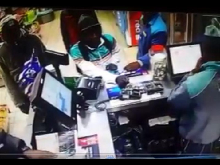 The three men who robbed a convincience shop were captured by a CCTV camera. Picture: Centurion Rekord.