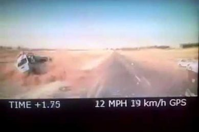 WATCH: Taxis collide badly at speed