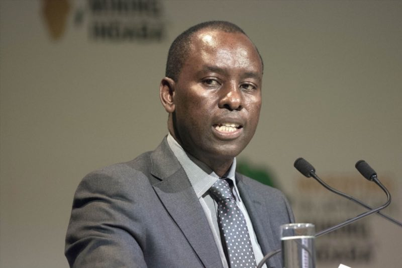 Minister of Mineral Affairs Mosebenzi Joseph Zwane at the Africa Mining Indaba on February 8, 2016 at the Cape Town International Convention Centre in Cape Town. Picture: Gallo Images