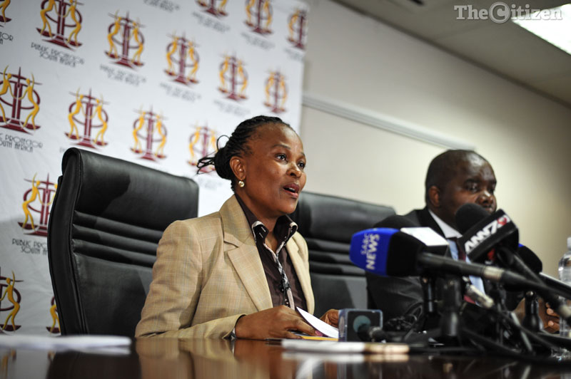 Advocate Busisiwe Mkhwebane, during a press briefing at the Public Protector Office, 20 October 2016, Pretoria. Picture: Jacques Nelles