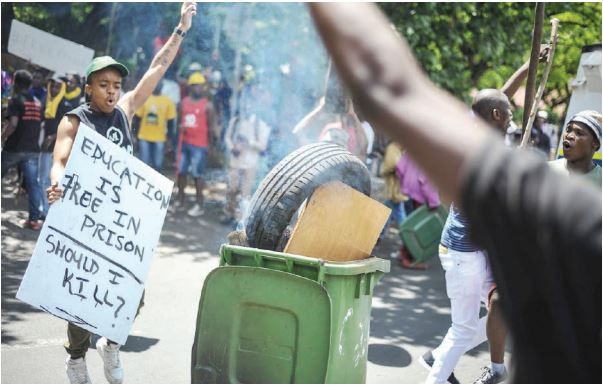 TUT students protest against 'unhealthy' campus food