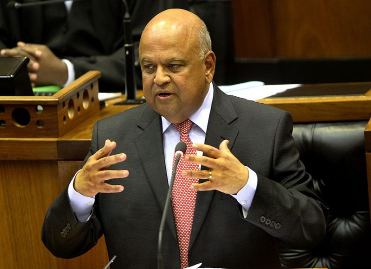 Finance Minister Pravin Gordhan delivering his 2016 Mid Term Budget Speech in Parliament, Cape Town.26/10/2016 gcis