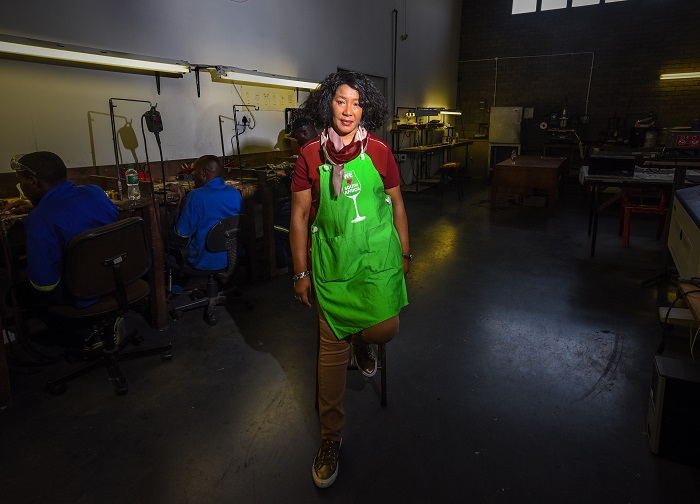 House of Mandela chairperson Dr Makaziwe Mandela poses for pictures during an interview on her business ventures at her offices in Kyalami, 07 September 2016. Picture: Refilwe Modise