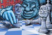 Ghost cartoon: Zuma plays 'chess-a-nyama'