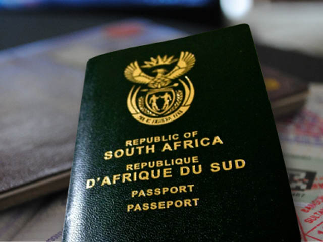 South African Passport stock image. Picture: Zululand Observer.