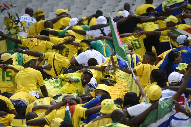 ALEXANDRIA, EGYPT - OCTOBER 23: Mamelodi Sundowns fans during the CAF Champions League 2nd Leg final match between Zamalek and Mamelodi Sundowns at Borg El Arab Stadium on October 23, 2016 in Alexandria, Egypt. (Photo by Gallo Images)