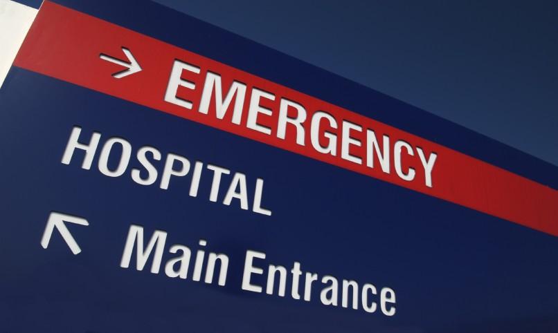 Hospital sign.