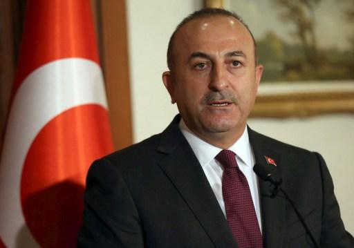Turkish Foreign Minister Mevlut Cavusoglu. AFP PHOTO / ADEM ALTAN