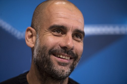 Manchester City's Spanish manager Pep Guardiola addresses the media during a press conference at the City Football Academy in Manchester, northern England, on October 31, 2016, ahead of their UEFA Champions League group C football match against Barcelona on November 1.  / AFP PHOTO / OLI SCARFF