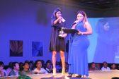Divashni Chetty and emcee Zola Myeza. Picture: Lorna Charles.