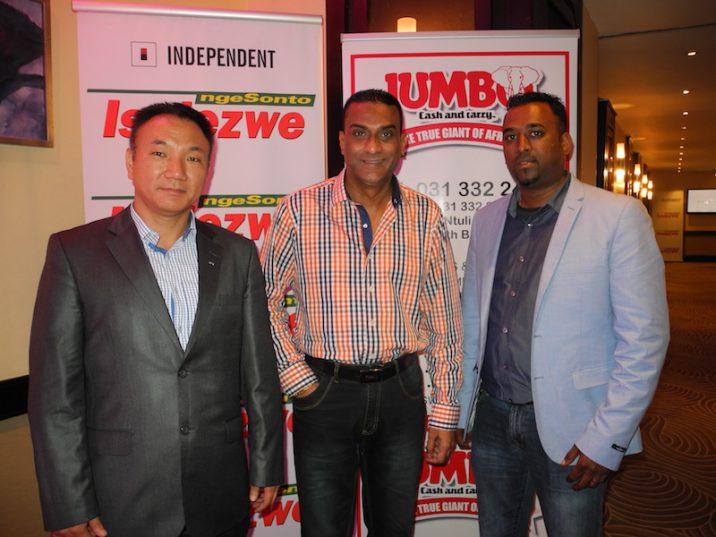 Shon Yun, Hemant Trikam and Desmond Reddy. Picture: Lorna Charles.