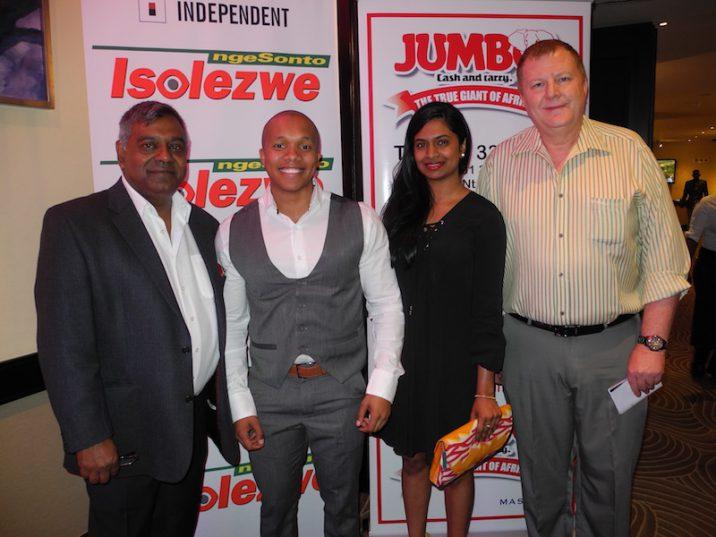 Morgan Naidu, Reabetsoe Ganzini, Divashni Chetty and Fred Killian. Picture: Lorna Charles.