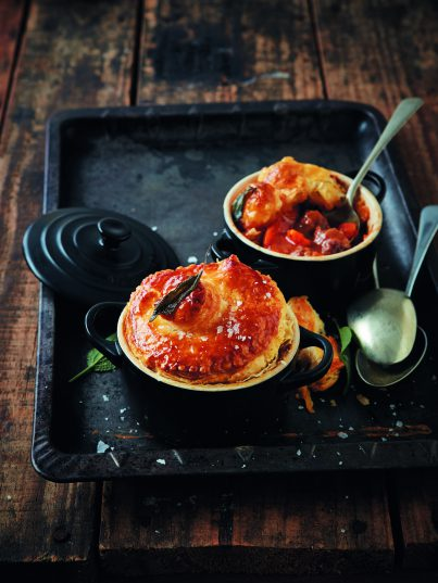 Lamb and Guinness pot pies