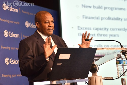 Brian Molefe speaks at a press conference where he was releasing Eskom's 2016 interim results, 3 November 2016. Megawatt Park, Sunninghill. Picture: Tracy Lee Stark