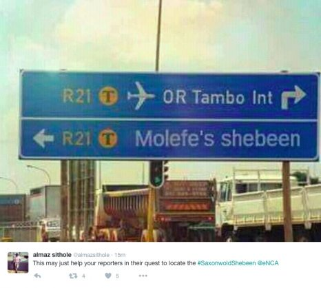 A screenshot of a Tweet by @almazsithole. Picture: Twitter.