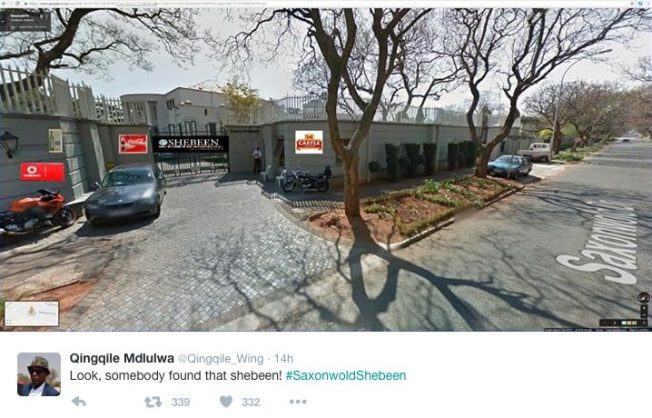 Molefe's favourite Saxonwold shebeen has been 'found'!