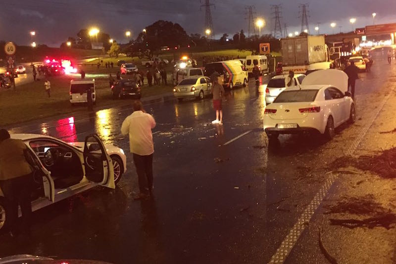 Paramedics attend to the scene of a flash flood on the N3 highway. Picture: Emer-G-Med.
