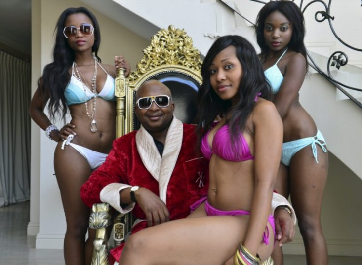 Kenny Kunene, at his home on April 12, 2013, in Johannesburg, South Africa. Picture: Gallo Images