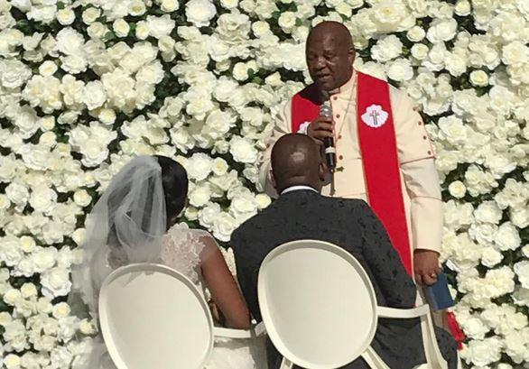 Mzwandile and Sinazo Masina's wedding. Image via Instagram.