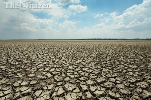 A dry river bed is pictured at the Vaal Dam, 2 November 2016, in Oranjeville, Free State. A severe drought has seen the Vaal dam water level drop to below 26 percent leading to water restrictions across the country. Picture: Alaister Russell