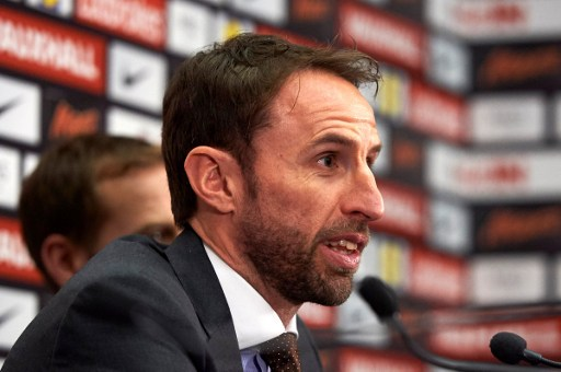 England's new manager Gareth Southgate takes part in a press conference at Wembley Stadium in London on December 1, 2016.  Gareth Southgate was appointed England's new full-time manager on November 30, and will lead the national team's challenge for the 2018 World Cup and 2020 European Championship. / AFP PHOTO / NIKLAS HALLE'N / NOT FOR MARKETING OR ADVERTISING USE / RESTRICTED TO EDITORIAL USE