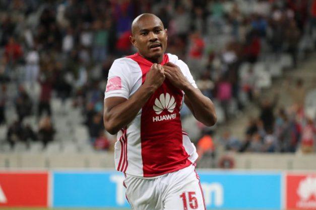 Prince Nxumalo of Ajax Cape Town celebrates a goal (Chris Ricco/BackpagePix)
