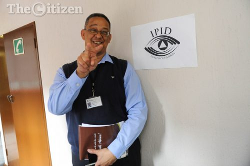The head of the Independent Police Investigative Directorate, Robert McBride leaves the venue after hosting a press conference, 13 December 2016, at their offices in Pretoria. Picture: Alaister Russell