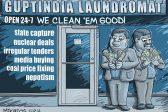 Ghost cartoon: Guptas clean up