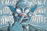 Ghost cartoon: Do clowns scare you?