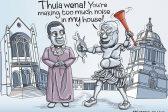 Ghost cartoon: Zuma says thula to Thabo