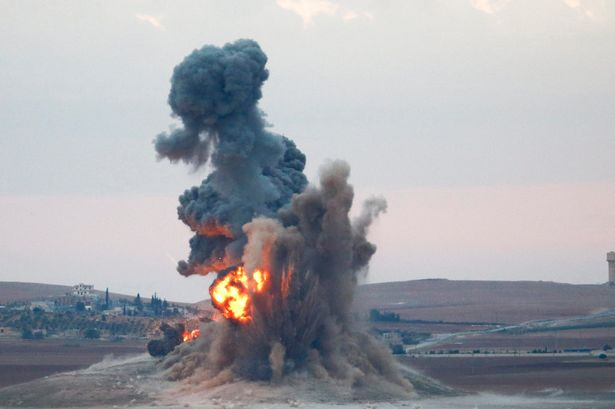 Russia bombs Syria.
