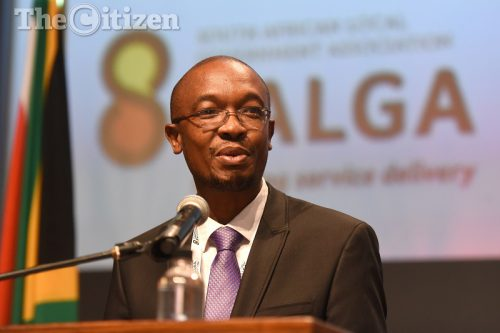 SALGA president and president of the United Cities and Local Governments Parks Tau delivers his acceptance speech during SALGA's National Conference held at the Sandton Convention Centre in Johannesburg, 01 December 2016. Picture: Refilwe Modise
