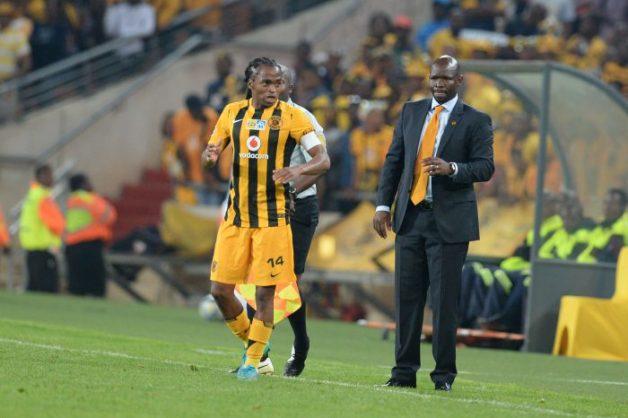 Siphiwe Tshabalala with Steve Komphela (Photo by Lefty Shivambu/Gallo Images)