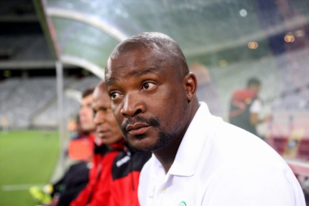 Bloemfontein Celtic caretaker coach Lehlohonolo Seema during the Absa Premiership match between Cape Town City FC and Bloemfontein Celtic at Cape Town Stadium on November 02, 2016 in Cape Town, South Africa. (Photo by Carl Fourie/Gallo Images)