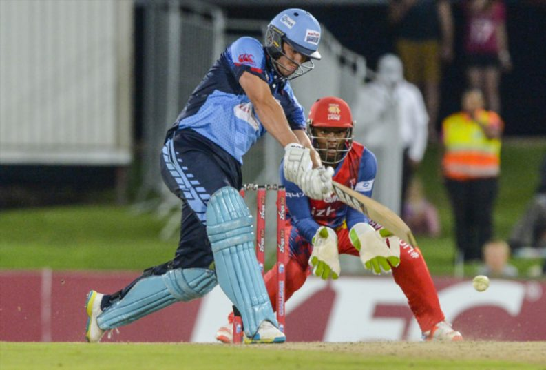 Albie Morkel, the Titans captain, launched a thrilling late assault on the Lions' bowlers to put the hosts out of sight. Photo: Sydney Seshibedi.
