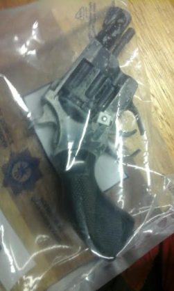 File picture: A modified toy gun recovered from a crime scene.