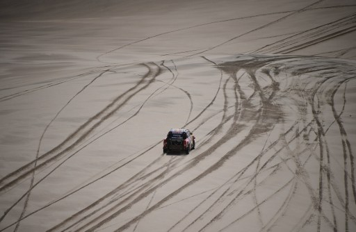 It was a tough day for Giniel de Villiers in the Dakar rally. Photo: Franck Fife/AFP.