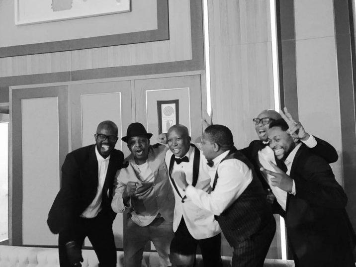 DJ Black Coffee with Oskido, Julius Malema, Fikile Mbalula, Zizi Kodwa and Mbuyiseni Ndlozi. Picture: Mbuyiseni Ndlozi/Facebook