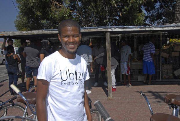 Filling a gap: Langa entrepreneur Siyabulela (Sabu) Siyaka has expanded his tourism business after starting by tailor-making a township tour for foreign students PHOTO Maryann Shaw