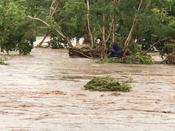 Since Thursday, the South African Police Service air wing, with search and rescue members and other emergency services, have rescued six people from fast flowing rivers in Limpopo as a result of the recent heavy rain. Photo: SAPS (Facebook)