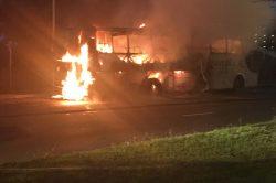 Translux bus catches fire