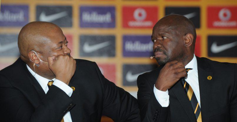 Bobby Motaung and Steve Komphela coach of Kaizer Chiefs. (Pic Sydney Mahlangu/ BackpagePix)