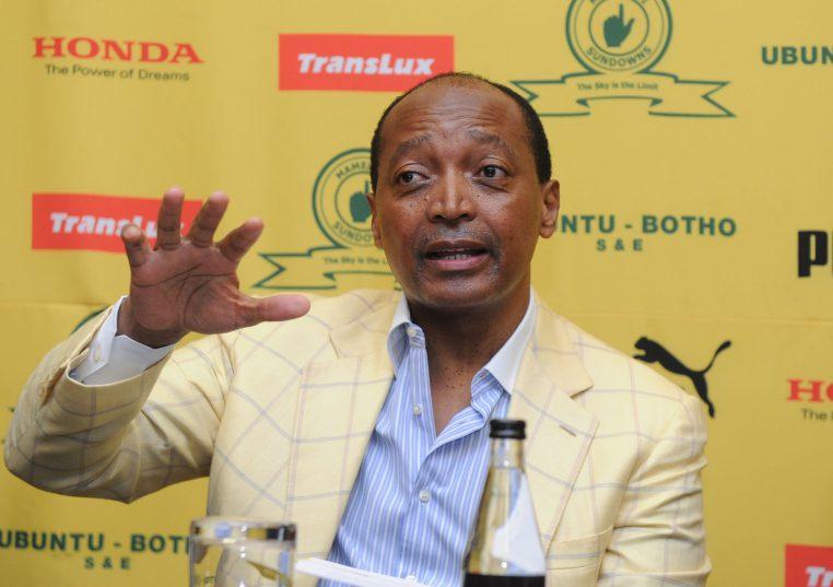 Patrice Motsepe during the Mamelodi Sundowns Press Conference (Sydney Mahlangu/BackpagePix)