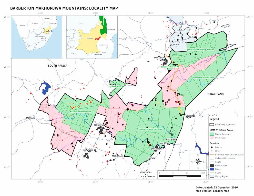 Current map of the proposed BMM WHS comprised of two colours showing communal & timber plantation properties (pink) as well as current conservation areas (green). Picture: Lowvelder