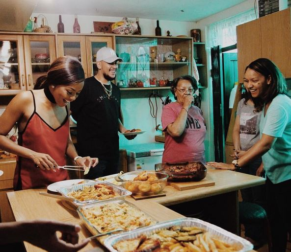 Bonang and AKA spend time with his family in Mitchell's Plain, Cape Town. Image by Blaq Smith.