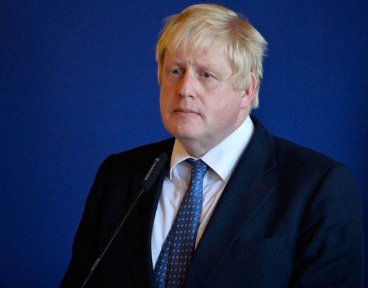 Former British foreign minister Boris Johnson.